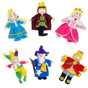 Кукли за пръсти за куклен театър Кралство 6 броя BigJigs BJ704 1