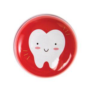 Метална кутийка за зъбки Червена Rex London 28158 (1)