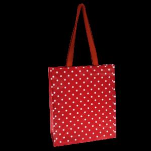 Торба за пазаруване Ретро червена на точки Rex London 20718 (2)