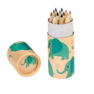 Цветни моливи в кутия Слончето Елвис Rex London 27581 (1)