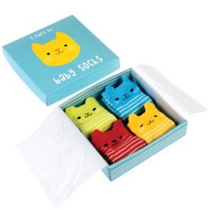 Бебешки чорапки Котето Куки 4 чифта Rex London 27478 (1)