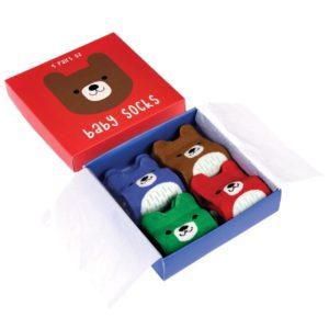 Бебешки чорапки Мечето Бруно 4 чифта Rex London 27477 (1)