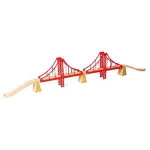 Двоен висящ мост за детски влаков комплект BigJigs BJT136 (1)