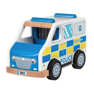 Детска дървена играчка полицейски ван BigJigs T0509 1