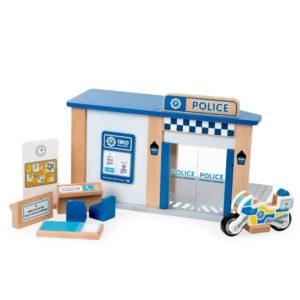 Детска дървена играчка полицейско управление BigJigs T0503 1