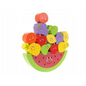 Детска дървена игра за балансиране на плодове KRU11224 (1)