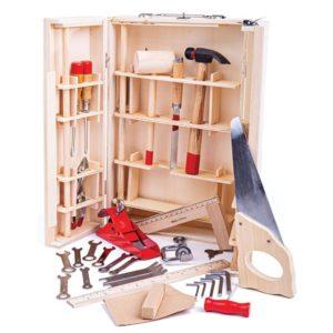 Детска дървена кутия с инструменти BigJigs BJ410 (1)