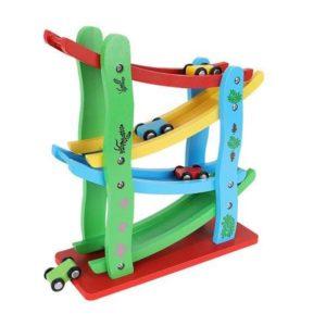 Детска дървена писта с 4 колички KRU9349 (1)