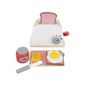 Детска играчка дървен тостер с аксесоари KRU11227 (1)