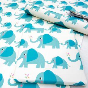 Детска опаковъчна хартия Слончето Елвис Rex London 27044 (1)
