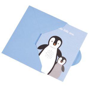 Детска поздравителна картичка Здравей, мъниче - Пингвини Rex London 27648 (1)