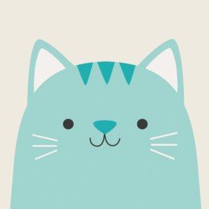 Детска поздравителна картичка Котето Куки Rex London 27641 (1)