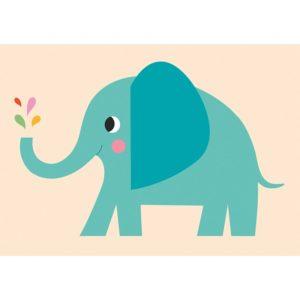 Детска поздравителна картичка Слончето Елвис Rex London 27018 (1)