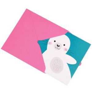 Детска поздравителна картичка Тюленче Rex London 27632 (1)