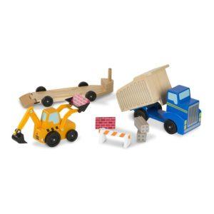 Детски дървени строителни превозни средства Самосвал и товарач Melissa & Doug 12757 (1)