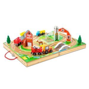 Детски дървен комплект в куфарче Ферма Melissa & Doug 40142 (1)