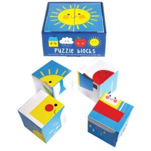 Детски пъзел с кубчета Щастливият дъждовен облак Rex London 28327 (1)
