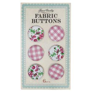 Детски текстилни копчета Розови Rex London 23999