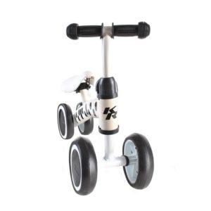Детско балансно колело с четири колела - Бяло KRU8619 (1)