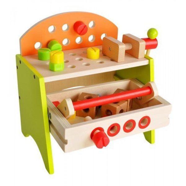 Дървена детска работилница с инструменти KRU9421 (1)