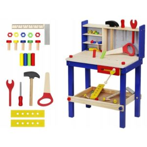 Дървена работилница за деца с инструменти KRU6860 (1)
