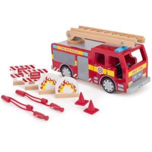 Дървен пожарникарски камион BigJigs T0410