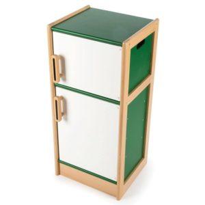 Дървен хладилник за детска кухня Зелен BigJigs T0160