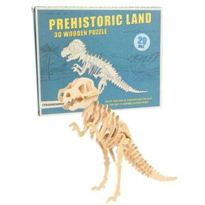 Дървен 3D пъзел Праисторическа земя Тиранозавър Rex London 28271 (1)