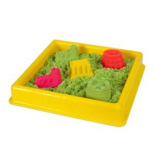 Жълт басейн за игра с кинетичен пясък 30 х 30 см 015 2 (1)