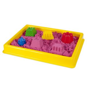 Жълт басейн за игра с кинетичен пясък 30 х 40 см 016 2 (1)