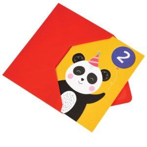 Картичка за втори рожден ден Панда Rex London 27615 (1)
