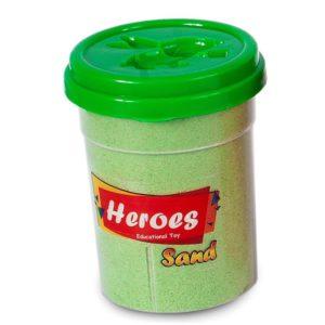 Кинетичен пясък зелен 200 грама с фигурка за моделиране 020 5 1