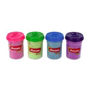 Кинетичен пясък 4 цвята х 200 грама с фигурки за моделиране 022 (2)