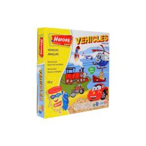 Комплект кинетичен пясък Колички и самолетчета 010 (1)