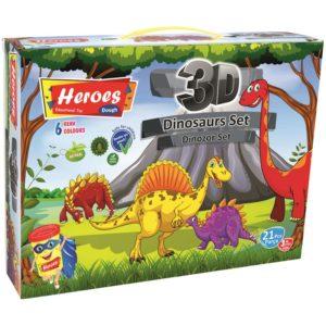 Комплект моделин за моделиране на Динозаври PLAY DOUGH ERN 568 (1)