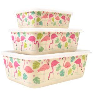 Комплект от 3 бамбукови кутии за храна Фламинго Rex London 27795 (1)