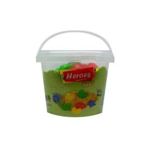 Кофа зелен кинетичен пясък 300 грама с 3 броя фигурки 026 5 (1)