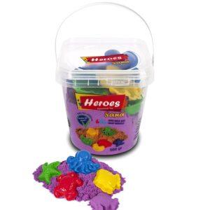 Кофа лилав цвят кинетичен пясък 500 грама с 6 броя фигурки 019 04 (2)