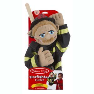 Кукла за ръка за куклен театър Пожарникар Melissa & Doug 40352 (1)