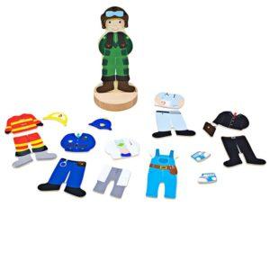 Магнитна кукла за обличане Професии BigJigs BJ011 1