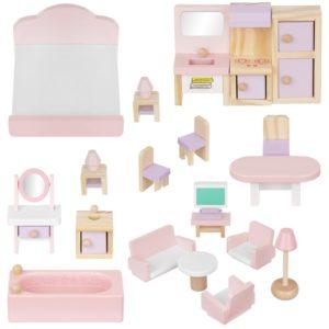 Обзавеждане за детска куклена къща от 22 части KRU11213 (1)