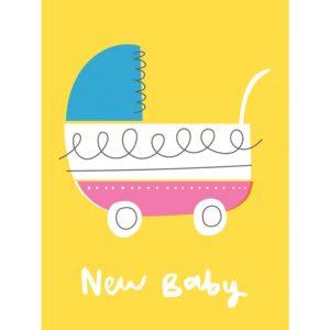Поздравителна картичка Винтидж бебешка количка Rex London 27652 (1)