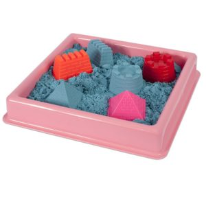 Розов басейн за игра с кинетичен пясък 30 х 30 см 015 1