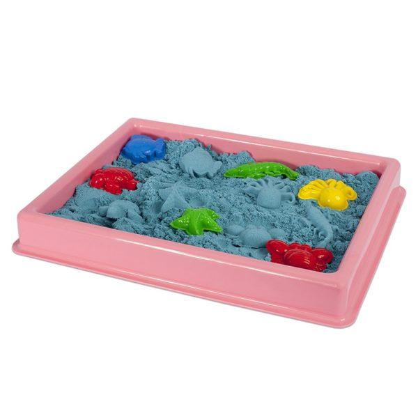 Розов басейн за игра с кинетичен пясък 30 х 40 см 016 1 1
