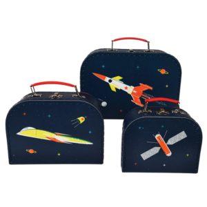 Три детски куфарчета за съхранение Космос Rex London 28498 (1)