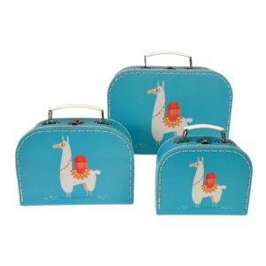 Три детски куфарчета за съхранение Ламата Доли Rex London 28496 (1)