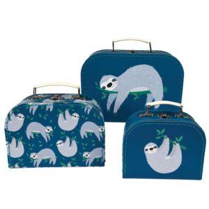 Три детски куфарчета за съхранение Ленивецът Сидни Rex London 28497 (1)