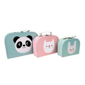 Три детски куфарчета за съхранение Пандата Мико и приятели Rex London 28042 (1)