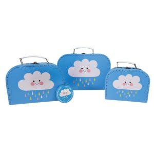 Три куфарчета за съхранение - Щастливият дъждовен облак 28043 (1)