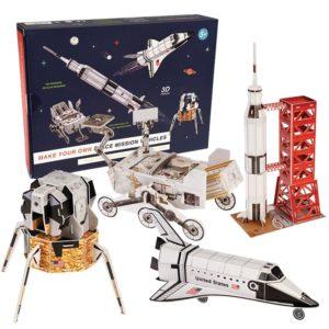 Четири триизмерни пъзела Направи сам космически превозни средства Rex London 28609 (1)